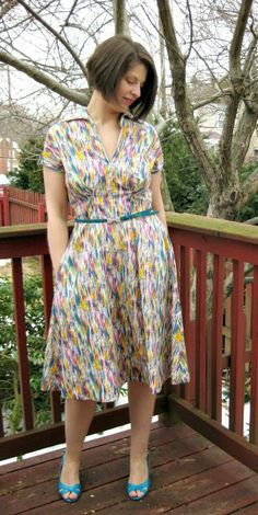 The winifred dress on pinterest vintage silhouette sew and sewing