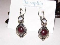 Lia Sophia retired Lisa- Genuine Mother-of-Pearl Earrings  starting bid $5.00
