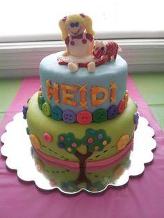 My baby girls 3rd birthday cake, LalaLoopsy Spot Splatter Splash