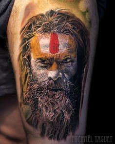 Tattoo artist Michael Taguet authors tattoos in color and black&grey realism | France