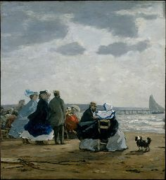 Eugène Boudin (French, 1824–1898). On the Beach, Dieppe, 1864. The Metropolitan Museum of Art, New York. The Walter H. and Leonore Annenberg Collection, Bequest of Walter H. Annenberg, 2002 (2003.20.1)