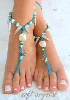 Barefoot Sandals Barefoot Beach Jewelry barefoot sandal,   STONES fylntisi…