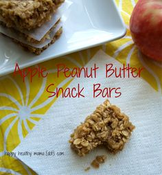 Apple peanut butter snack bars | Happy Healthy Mama