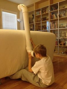 24. Let your kids spy on the neighbors with a PVC periscope.