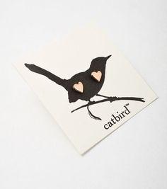 Rose gold heart studs from Catbird. #own