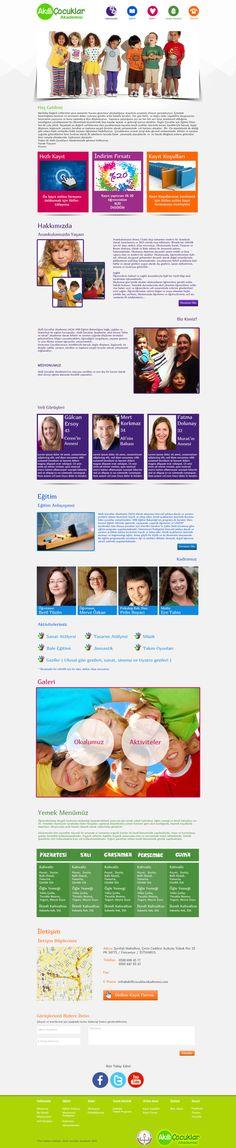 AÇA Web Site - One Page