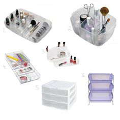 homemade storage ideas for makeup - Google Search
