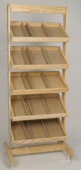 "Crate rack 1-101=$110 each; 72""x27""x14"" This would love great to display trays or boxes of chocolates"