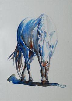 """Laura's horse"" - Original Fine Art for Sale - © Vicki Wood"