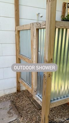 Outdoor Bathrooms, Outdoor Rooms, Outdoor Living, Outdoor Decor, Small Backyard Design, Small Backyard Patio, Backyard Ideas, Porch Ideas, Backyard Landscaping