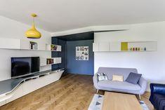 Bureau-Rangements VER « GplusK Console Tv, Corridor, Flat Screen, Shelves, 3d, Architecture, Interior, Design, Bespoke Furniture
