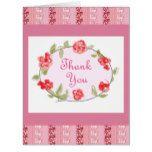 Thank You Floral Decorative Art Card