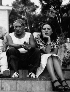 Pablo Picasso and his lover Dora Maar