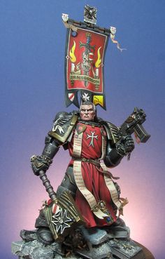 Black Tempare Chaplain Tersteegen. The Black Templars are a Loyalist Second Founding Space Marines Chapter derived from the Imperial Fists' gene-seed and their Primarch, Rogal Dorn. Their origin can be traced back to the Imperial Fists' defence of Terra during the Horus Heresy