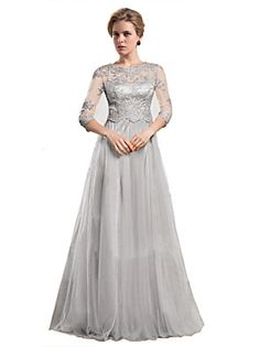 A-line+Mother+of+the+Bride+Dress+Floor-length+Organza+with+Appliques+–+EUR+€+338.10