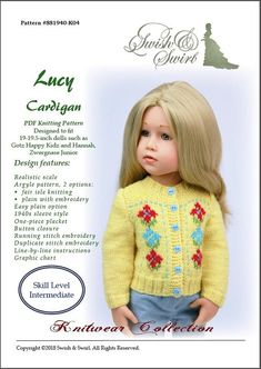PDF Knitting Pattern SS1940-K04. Lucy Cardigan for
