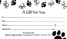Dog Grooming Quotes Bon Mots Fun Saying Dogs Cats Pinterest - Dog gift certificate template free