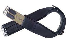 "Adjustable Black Leather English Girth(36"" TO 44"")"