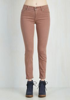 Solid Sense of Style Jeans in Mauve - Pink, Solid, Casual, Skinny, Denim, Better, Variation, Mid-Rise, Full length, Fall