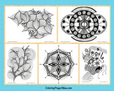 Coloring pages for adults with lots of fun details to fill with beautiful color.