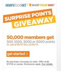 Free Surprise Points From Sears! - Coupon Connections