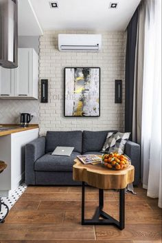 Small Apartment With Unique Yet Smooth Look Small Apartment interior design idea 5 Small Loft Apartments, Small Apartment Design, Ikea Small Apartment, Studio Type Apartment, Minimalist Studio Apartment, One Room Apartment, Apartment Kitchen, Apartment Ideas, Interior Design Examples