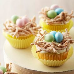 Bird's Nest Cupcakes From Better Homes and Gardens, ideas and improvement projects for your home and garden plus recipes and entertaining ideas.