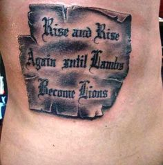 Best Tattoo Quotes for Men Ribs