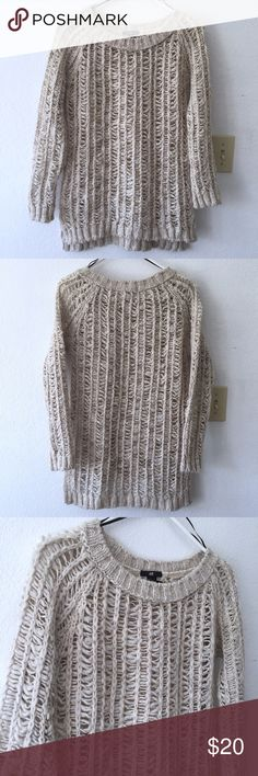 H&M Crochet Knit Sweater w/Side Slits H&M Crochet Knit Sweater w/Side Slits  - Delicate, intricate knit - Has side slits - Excellent condition, like new! - No damages  Beautiful throw-over knit sweater for summer! H&M Sweaters