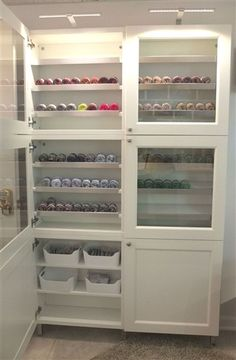 Need storage for your DIY supplies? Use a custom IKEA BESTA cabinet to store and organize everything you need.