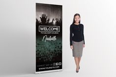 Welcome Church Banner - Looking for something different? Take a look at this beautiful design for your next church banner.