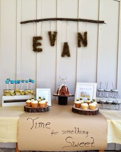 100 Akre Woods themed dessert table for classic Winnie the Pooh party. The quote was my favorite!