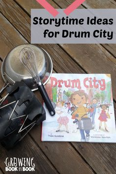 Here are some fun storytime ideas to compliment the book, Drum City. Kindergarten Music, Preschool Music, Preschool Books, Music Activities, Teaching Music, Group Activities, Toddler Preschool, Toddler Crafts, Drum Lessons