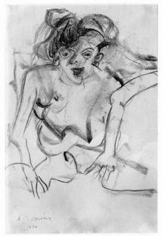 Willem de Kooning: Woman 1966 charcoal on paper