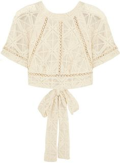 Zimmermann Haze cropped embroidered silk-georgette top on shopstyle.com