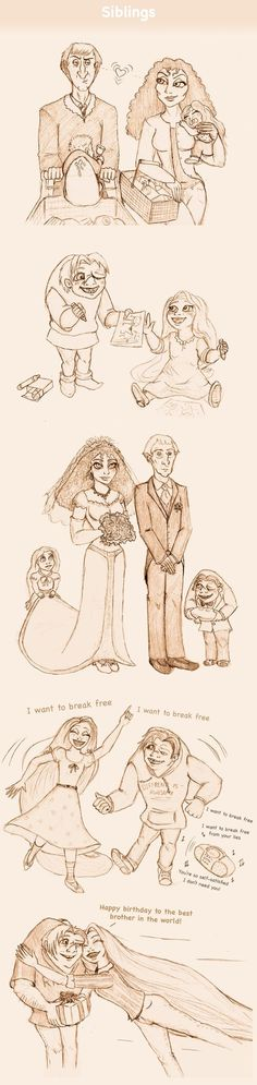 Siblings by Morloth88.deviantart.com on @deviantART First in a really awesome Disney High series!!! :):