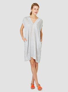 Warboel Kaftan Dress // Striped, linen blend | Humanoid // Couverture and Garbstore