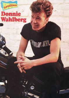 Donnie Wahlberg.....hmmm had i known more about nerds vs the bad guy growing up.....hindsight is 20/20! ;)