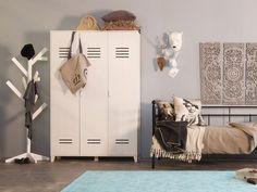 LILLY Schrank Schlafzimmer Spind Kiefer Weiß - Ausstellungsstück