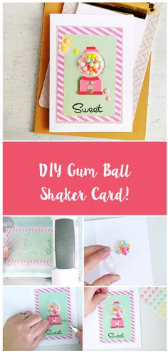 We love this shaker card make using Sizzix Thinlits Die Set – Circle Play by Tim Holtz! Click the link to check out how to make! Card Making Templates, Card Making Kits, Card Making Tutorials, Making Ideas, Kids Cards, Craft Cards, Aqua Paint, Halloween Favors, Diy Christmas Gifts