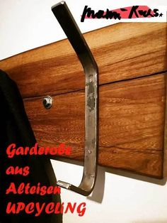 Garderobe aus Alteisen DIY Projekt #upcycling #diy #garderobe #alteisen #zuhause #schönerwohnen #living #lifestyle #möbel