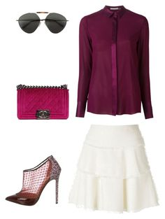 """""""Morning to night"""" by einatv on Polyvore featuring IRO, Alice + Olivia, Christian Louboutin, Chanel and Valentino"""