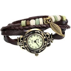 Women Quartz Fashion Weave Wrap around Leather Bracelet Wrist Watch (23 BRL) ❤ liked on Polyvore featuring jewelry, watches, wrap around watches, quartz wrist watch, wrap jewelry, wrap watches and wraparound watches