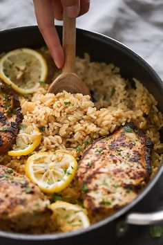 One Pot Greek Chicken and Rice Pilaf Recipe | Little Spice Jar
