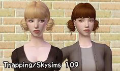 """keoni-chan:  Keoni retextures her hair folder - part 6 Lovingly dubbed """"The Pigtails Batch"""" XD Technical stuff: Lilith/Remi textures, 4 colors (incendiary, molotov, depth charge, dynamite), grey linked to black. Credits: Skysims, Butterflysims, Trapping, Newseasims, Lilith/Remi, Pooklet. Links: Bfly 036 - PF-AF Bfly 054- all ages Newsea GoldLeaf - all ages Skysims 52 - all ages, edited by Emilia Trapping/Skysims 109 - all ages or download all in one folder"""