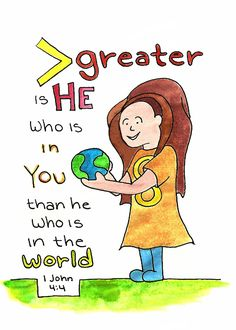 Doodle Through The Bible: 1 John 4:4, Greater is He. . .