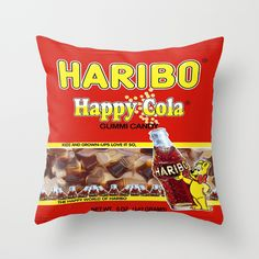 HARIBO - Coca Cola   Like the Teddy bears HARIBO, the bottles of Coca Cola gummies are so tasty and juicy that I decided to create a, tablet skin, tote bag and a throw pillow as a gift and as a souvenir for all the HARIBO lovers.
