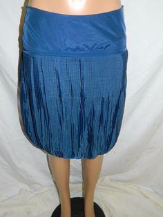 REISS Pleated Blue Knee length skirt  INV#0216 #Reiss #Pleated