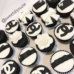 Chanel cupcakes made by SweetsBySuzie in Melbourne