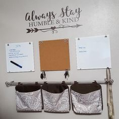 Humble & Kind arrow under $20! Choose a color to compliment your decor! #commandcenter  #walldecals